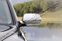Накладки на зеркала Volkswagen Touareg (2003-2007) (нерж.) 2 шт- Omsa