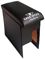 Подлокотник Daewoo Nubira с вышивкой черный