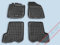 Коврики салона Renault Sandero 2013- черный, кт - 4шт Rezaw-Plast