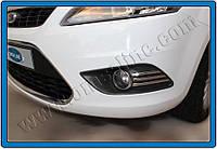 Накладки на противотуманки Ford Focus HB 5D,SD,SW (2008-2011) (реснички) (нерж.) 6 шт.