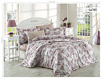 Комплект постельного белья ISSI HOME Сатин + жатый шелк 1524