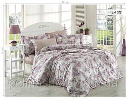 Комплект постельного белья ISSI HOME Сатин + жатый шелк 103 Евро