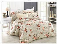 Комплект постельного белья ISSI HOME Сатин + жатый шелк 1527