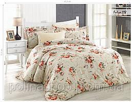 Комплект постельного белья ISSI HOME Сатин + жатый шелк 118 Евро