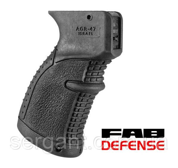 Эргономичная прорезиненая пистолетная рукоятка AGR-47 Fab Defense для АК, фото 1