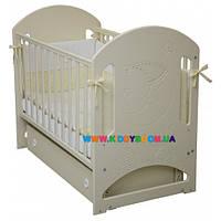"""Детская кровать Верес """"Соня ЛД 8"""" слоновая кость маятник с ящиком, резьба месяц 08.1.04, фото 1"""