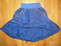 Джинсовые юбки для девочек оптом, F&D 104-128 рр.