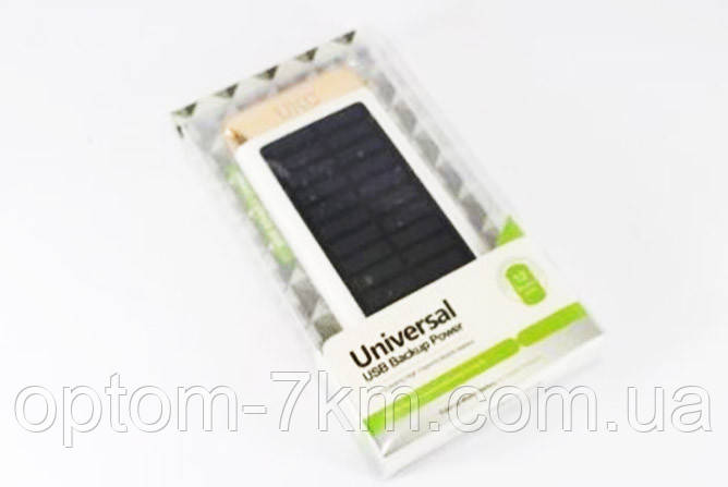 Power Bank Повербанк UKC 15000 mAh 2 в 1 Solar Led