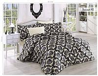 Комплект постельного белья ISSI HOME Сатин + жатый шелк 1529