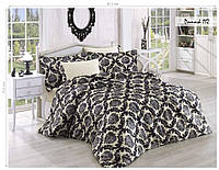 Комплект постельного белья ISSI HOME Сатин + жатый шелк 112 Евро