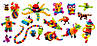 Набор Мягкий Конструктор Липучка Банчемс Bunchems Репейник Mega Pack 200 Деталей, фото 6