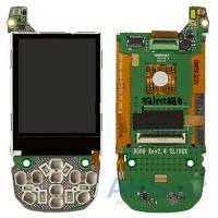 Дисплей (экран) для телефона Samsung D500, D500E на плате с подложкой