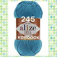 Пряжа для ручного вязания Alize DİVA STRETCH -(Ализе дива стрейч)   245 Голубой Сочи