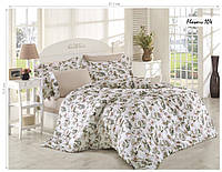 Комплект постельного белья ISSI HOME Сатин + жатый шелк 104 Евро