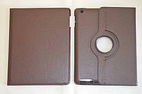 Поворотный 360° чехол-книжка для Apple iPad 2 / 3 / 4 (коричневый цвет)