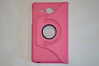 Поворотный 360° чехол-книжка для Samsung Galaxy J Max 7.0 T285YD T285YZ (розовый цвет)
