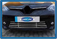 Защита переднего бампера Renault Fluence SD (2010-) нерж. Omsa