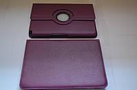 Поворотный 360° чехол-книжка для Samsung Galaxy Note 10.1 N8000 N8010 (фиолетовый цвет)