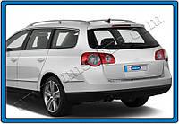 Накладки на задний бампер Volkswagen Passat B7 SW (2012-) нерж.- Матированный Omsa