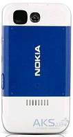 Задняя часть корпуса (крышка аккумулятора) Nokia 5200 Original White/Blue