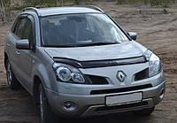 Дефлектор капота, мухобойка Renault Koleos 2008-2011 VIP