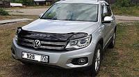Дефлектор капота, мухобойка Volkswagen Tiguan 2008- VIP