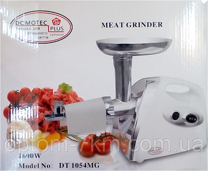 Электрическая Мясорубка Шнековая с Насадкой для Томатов Domotec DT 1054 GM Электромясорубка am