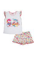 Костюм для малышки: футболочка и шорты
