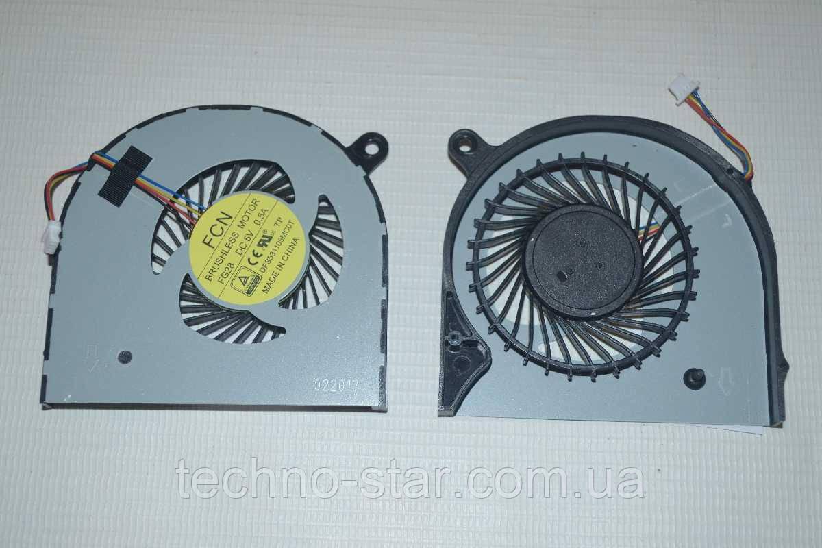 Вентилятор (кулер) FCN DFS531105MC0T для Acer Aspire VN7 Nitro VN7-591 VN7-591G CPU FAN