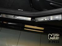 Накладки на пороги Peugeot 408 5D 2012- Nataniko Premium