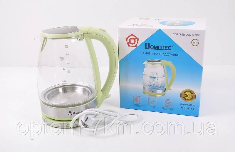 Электрический Стеклянный Чайник MS 8112 Электрочайник