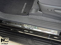 Накладки на пороги Toyota Land Cruiser 150 2010- Nataniko Premium