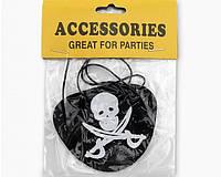 Карнавальная Пиратская Повязка на Глаз Прикол для Вечеринки Маскарад