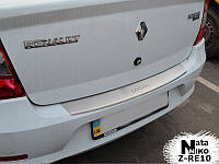 Накладка на бампер с загибом Renault Logan III 2012- NataNiko Premium