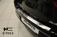 Накладка на бампер с загибом Toyota Auris II 2013- NataNiko Premium