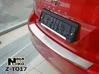 Накладка на бампер с загибом Toyota Venza FL 2013- NataNiko Premium