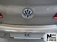 Накладка на бампер с загибом Volkswagen Passat CC 2008- NataNiko Premium
