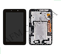 Дисплей (LCD) Lenovo A2107A IdeaTab7 с сенсором черный + рамка