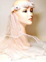 Карнавальный Ободок Фата Невесты с Цветами Прикол для Вечеринки Маскарад