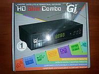 Комбинированный HDTV тюнер GI HD Slim Combo (SAT+DVB-T2) прошитый с каналами