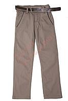 """Брюки для мальчика с поясом""""Пуговица на кармане"""" """"Altun"""", бежевый, 134(116-140), 134 см"""