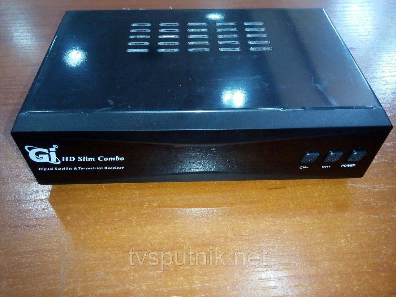 Комбінований тюнер GI HD Slim Combo (SAT+DVB-T2) прошитий з каналами