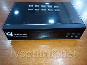 Комбінований тюнер GI HD Slim Combo (SAT+DVB-T2) прошитий з каналами, фото 2