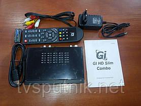 Комбінований тюнер GI HD Slim Combo (SAT+DVB-T2) прошитий з каналами, фото 3
