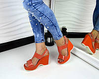 Новинка! Женские босоножки на платформе цвет оранжевый, 36 р