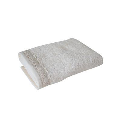 Полотенце махровое 70х140см белое с кружевом - Интернет магазин Постелюшка (Домашний текстиль, сумки, товары для дома и отдыха) в Харькове