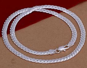 Цепочка Совершенство серебро 925 проба 5мм. (покрытие)