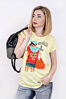 Футболка Девушка оранжевой с сумкой, летние футболки оптом
