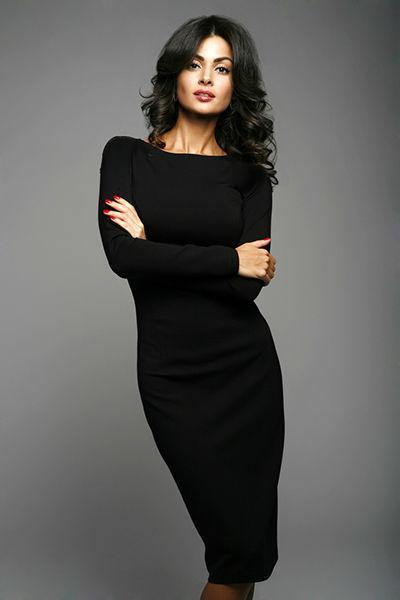 cdb40afdef6 Элегантное Черное Платье Из Трикотажа — в Категории