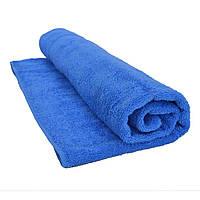 Полотенце махровое 70х140см голубое